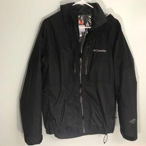 Columbia Men's Winter Coat Black Omni-Heat Medium